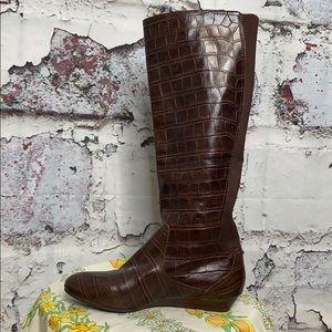 Antonio Melani brown leather boots 8